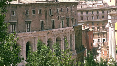 Ancient open-air theatre in Rome, Italy Live Action