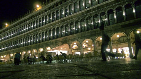 Orchestra Playing On St Mark's Square In Venice stock footage