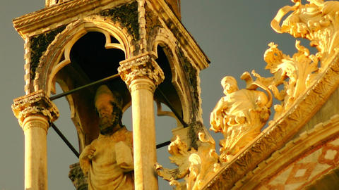 Basilica di San Marco. Venice, Italy, details at s Footage