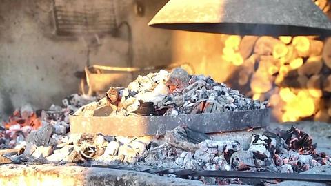 Preparing traditional meal dalmatian Peka Footage