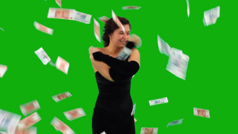 People Dancing, Money Falling stock footage