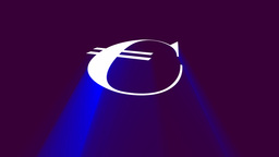 Euro sign with volumetric light effect Animation