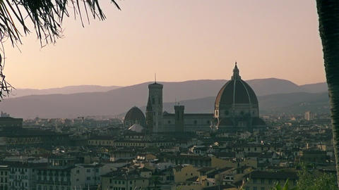View And Zoom Of Florence, Italy stock footage