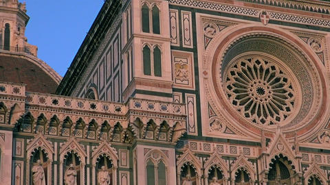 Piazza Del Duomo In The Historic Center Of Florenc stock footage