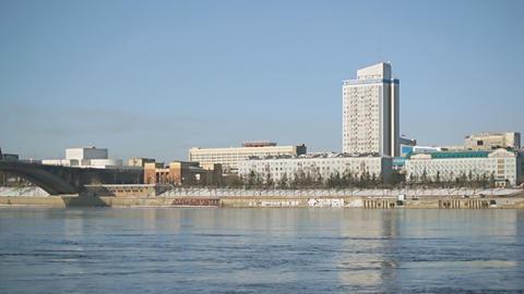 Krasnoyarsk Yenisei Embankment 02 Footage