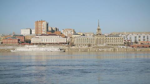 Krasnoyarsk Yenisei Embankment 04 Footage