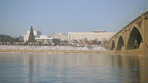 Krasnoyarsk Yenisei Embankment 07 Footage