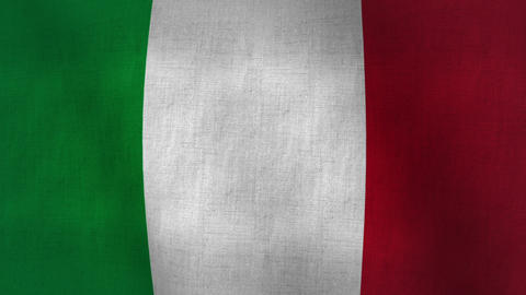 Italy Flag Background Textured (Loop-able) stock footage