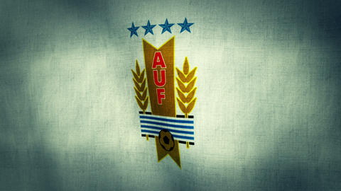 Uruguay National Football Team Flag (Loopable) Animation