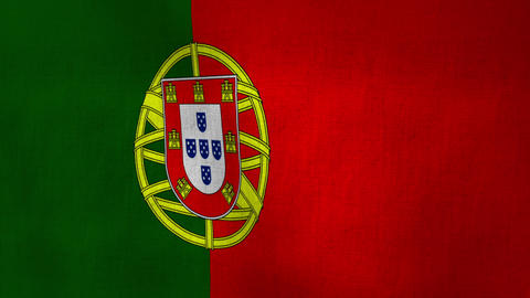 Portugal Flag Background Textured (Loop-able) Animation