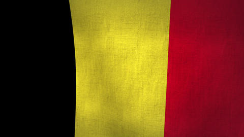Belgium Flag Background Textured (Loop-able) Animation