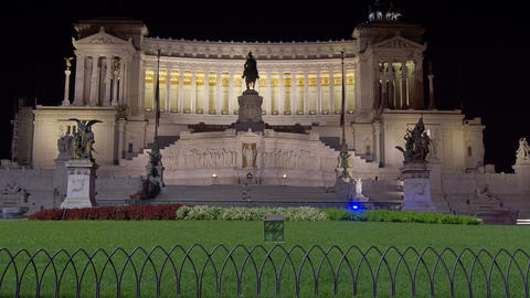 Italian National Monument. Rome. Time lapse in the Footage