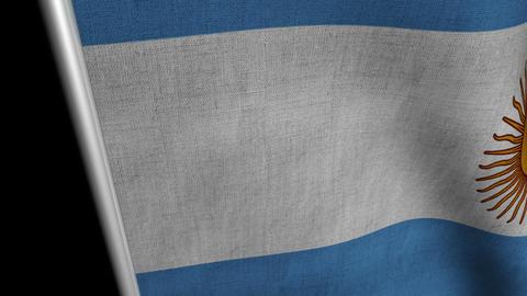 Argentina Flag transition LtoR with Alpha/Matte Animation