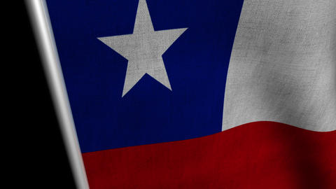 Chile Flag transition LtoR with Alpha/Matte Animation