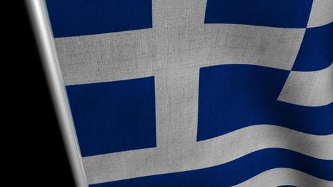 Greece Flag transition LtoR with Alpha/Matte Animation