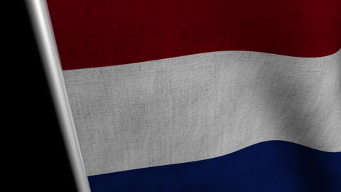 Netherlands Flag transition LtoR with Alpha/Matte Animation
