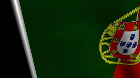 Portugal Flag transition LtoR with Alpha/Matte Animation