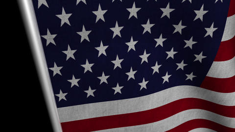USA Flag transition LtoR with Alpha/Matte Animation