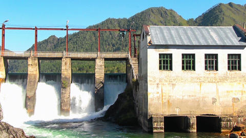 Hydroelectric power station Footage