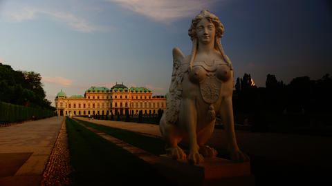 Chimera statue in the Belvedere Palace in Vienna,t Footage