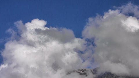 Cloudscape Over Mountain Timelapse stock footage