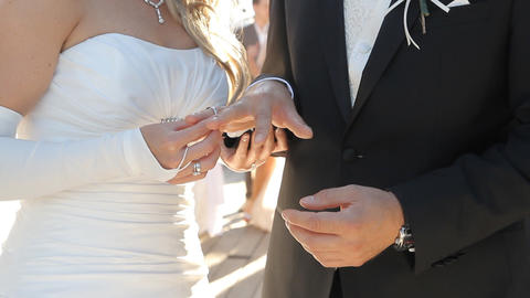 wedding ring 02 Footage
