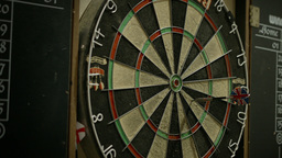 Dart Board stock footage