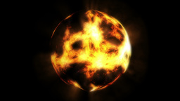 Fire Planet stock footage