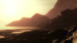 Surreal Mountain scape Animation