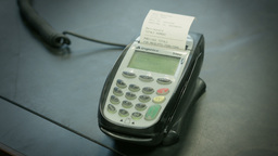 Card payment machine or PDQ machine Footage