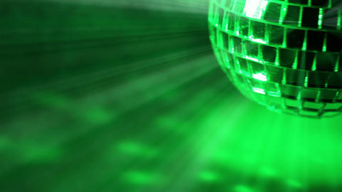 Smoke and Disco Ball. Seamless loop Footage