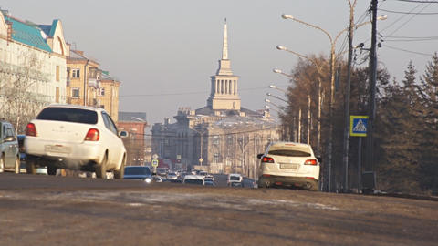 Krasnoyarsk traffic 01 Footage
