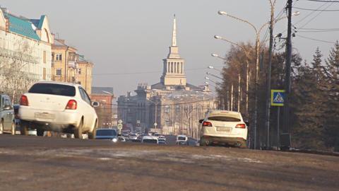 Krasnoyarsk traffic 01 Footage