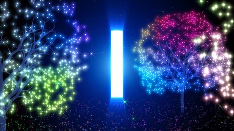 Door of illuminations and the light Animation