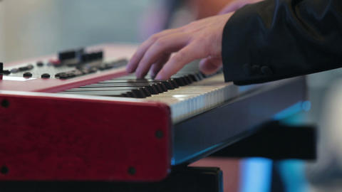 The musician plays keyboards Live Action