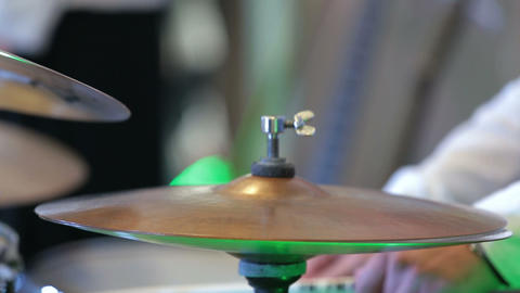 musician playing the percussion instruments Live Action