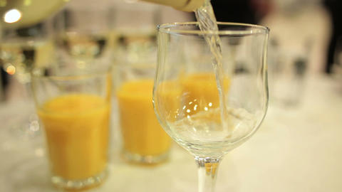 The wine in the glass Stock Video Footage