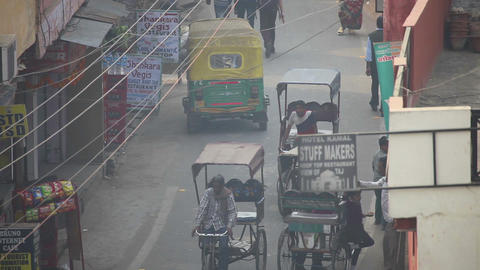 Busy day in Agra Footage