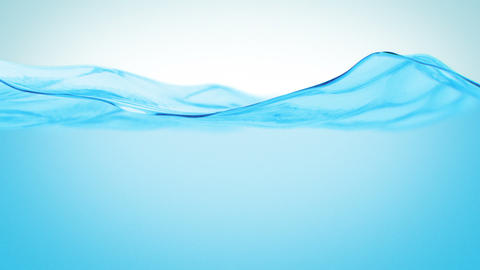Looped Waving Water in Slow Motion. HD 1080 Animation