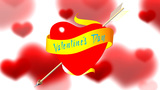 Valentine 's Day. Heart with inscription Animation