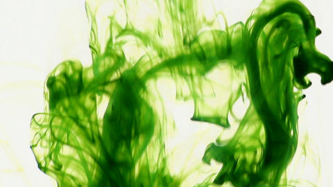 Green Color Dissolving stock footage
