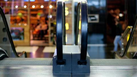 Escalator in the trade centre Footage