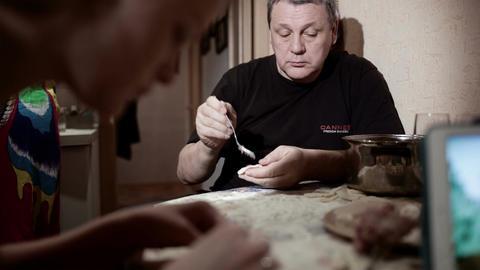 Family making pelmeni Footage