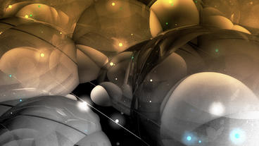 Abstract Bubble & Blister Art Background stock footage