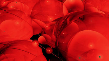 Abstract red bubble & blister art background Animation