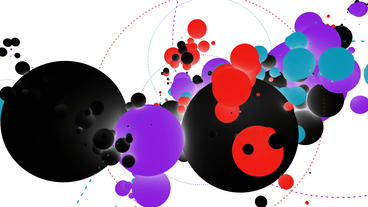 sci-fi color balls,music background,tech digital geometry particle Animation