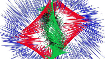 Beautiful colorful fireworks exploding,Abstract particles lines Animation