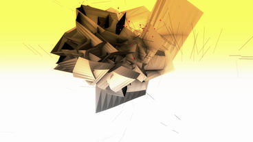 Abstract High Tech Geometry Deformation,patch Silicon Debris Background stock footage