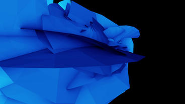 Abstract High Tech Blue Geometry Deformation,patch Silicon Debris Background stock footage