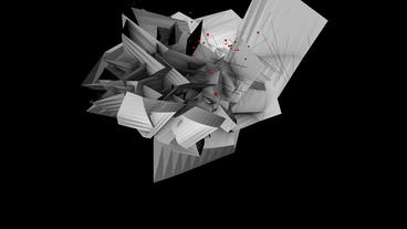Abstract high tech geometry deformation,patch silicon debris background Animation